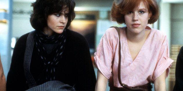 Ally Sheedy et Molly Ringwald dans une scène du film «The Breakfast Club», en
