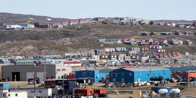 La ville d'Iqaluit, au