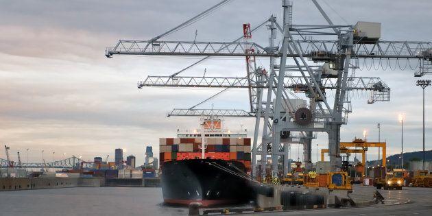 Le port de Montréal a profité d'un trafic de marchandises record en