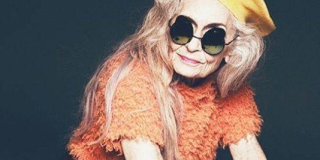 La mannequin la plus âgée au monde pose pour une campagne de