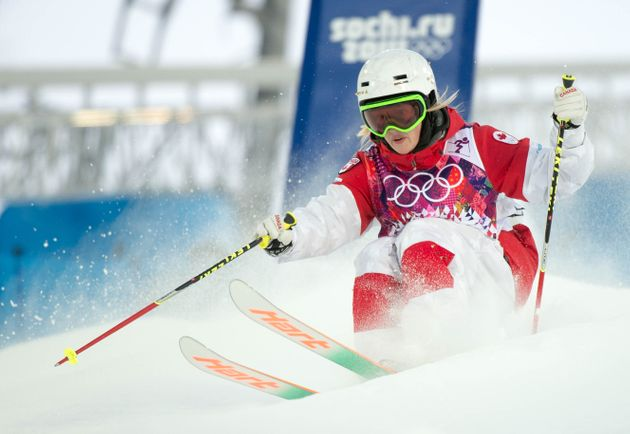 Canadian Olympic Ladies Freestyle.BIB 2 - Justine Dufour-Lapointe.February 6, 2014..COC Photo by Jason