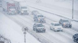 Les automobilistes doivent être prudents sur les routes de l'est du