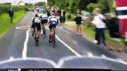 Les coureurs du Tour de France ont roulé sur un drôle de