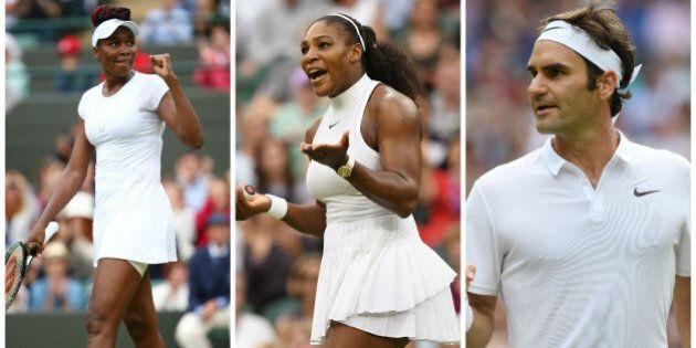 Federer et les soeurs Williams s'invitent aux quarts de finale à