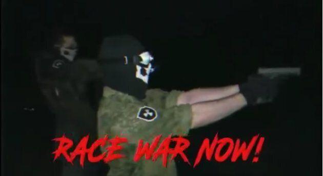 Une capture d'écran d'une vidéo de propagande
