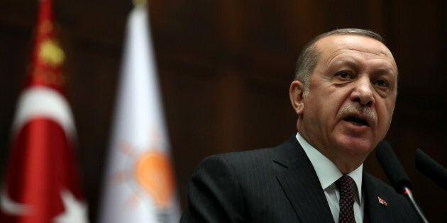 Le président de la Turquie, Recep Tayyip Erdogan.