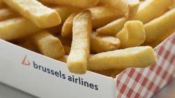 Des frites et des gaufres dans les avions