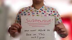 Une infirmière suspendue pour avoir refusé de faire du temps supplémentaire