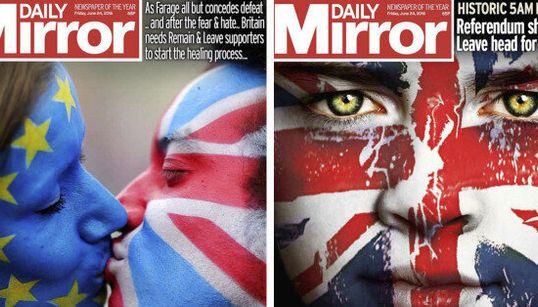 Brexit : des médias britanniques ont dû refaire leur Une en