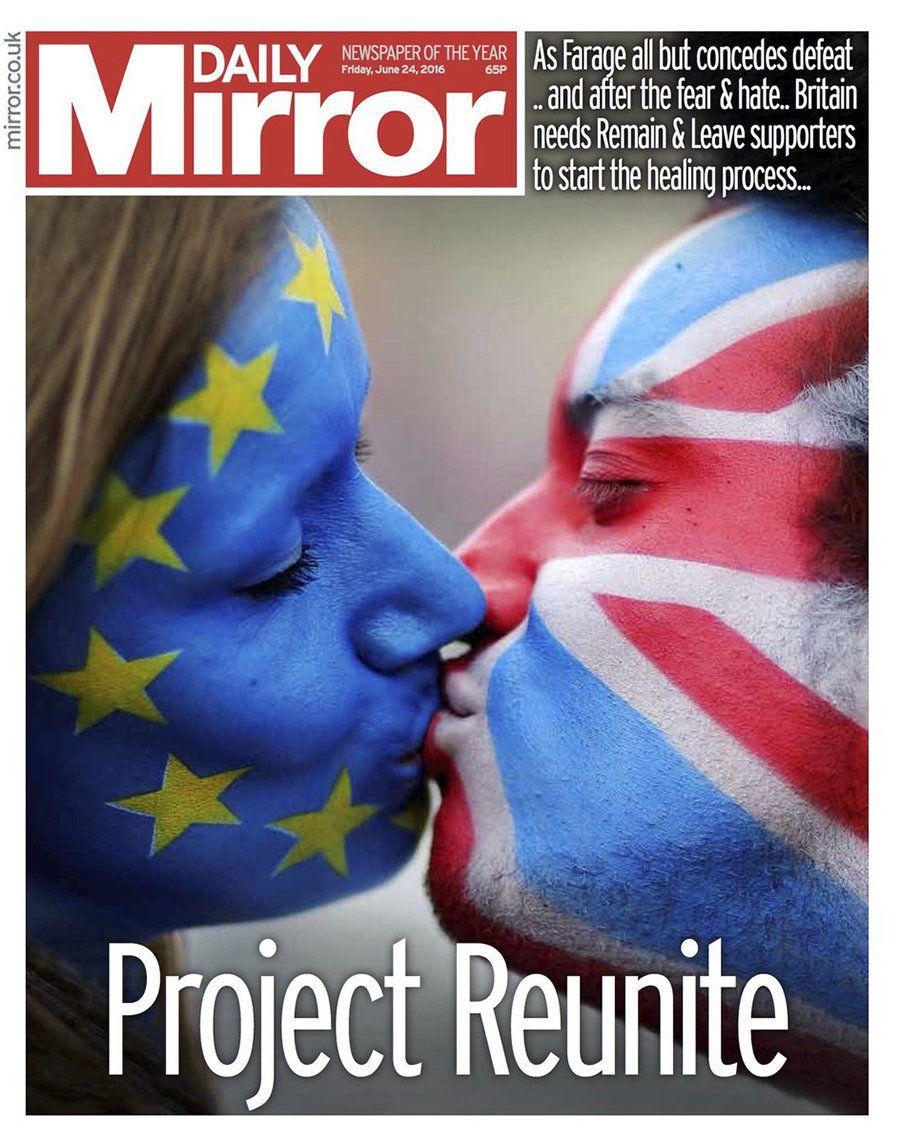 Avec la victoire inattendue du Brexit, des médias britanniques comme