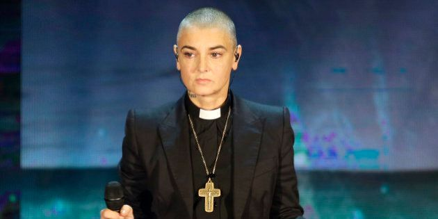 FILE - In this Oct. 5, 2014 file photo, Irish singer Sinead O'Connor performs during the Italian State...