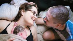 35 superbes photos de pères assistant à la naissance de leur