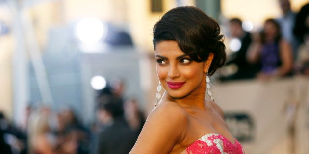 Actress Priyanka Chopra arrives at the 22nd Screen Actors Guild Awards in Los Angeles, California January...