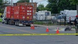 Cycliste mort après avoir été frappé par un camion dans l'est de