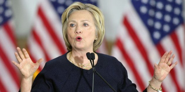 Democratic U.S. presidential candidate Hillary Clinton speaks at a campaign rally in Cleveland, Ohio...