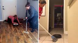 L'épreuve de curling a inspiré des vidéos...