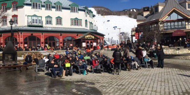 La saison du bronzage semblait débuter cette semaine au Mont