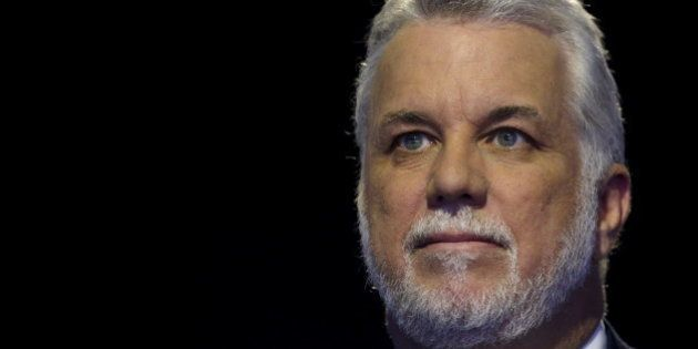 Quebec Premier Philippe Couillard attends the World Climate Change Conference 2015 (COP21) at Le Bourget,...