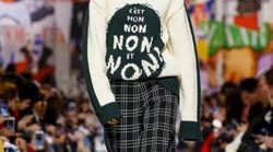 À la Fashion Week de Paris, le message de ce pull Dior est TRÈS