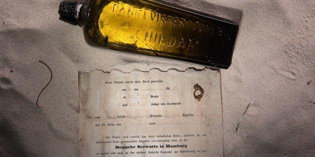 La plus vieille bouteille lancée à la mer retrouvée en