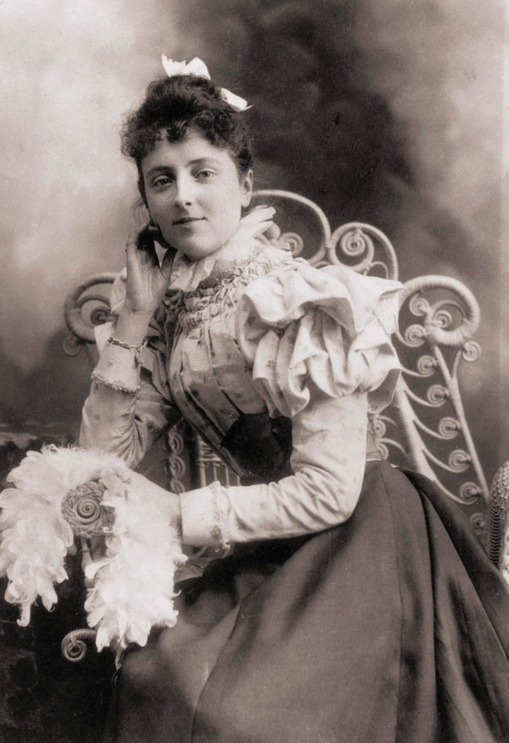 Lucy Maud Montgomery is shown in this photo from 1891.