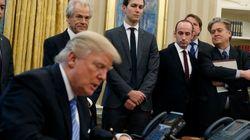 Un tweet montrant Trump signer une mesure anti-avortement est devenu