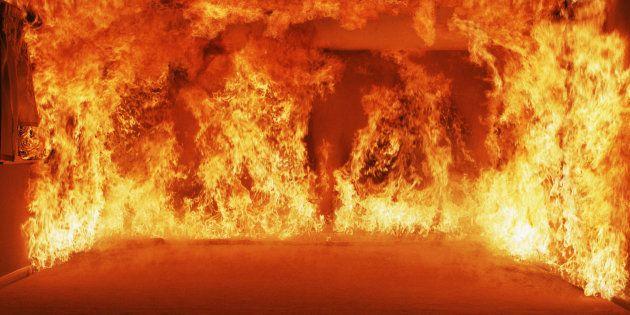 Un incendie rase un immeuble en construction de Pointe-aux-Trembles à