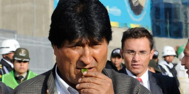 Bolivia's President Evo Morales takes part in an Aymara ritual to acknowledge Pachamama (Mother Earth)...