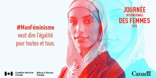 Une femme voilée utilisée par Condition féminine Canada pour la Journée internationale des
