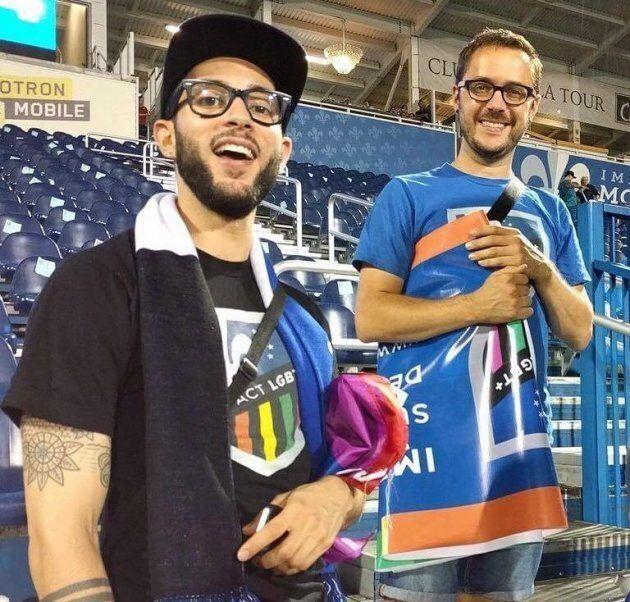 Samuel Bonnefont et Gabriel Girard assistaient au «Fier match» de l'Impact de Montreal en août