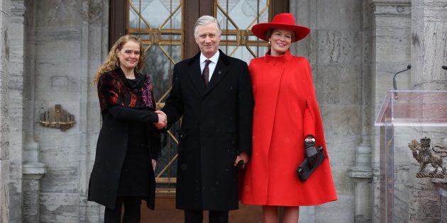 Julie Payette, le roi Philippe de Belgique et son épouse