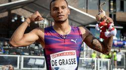 Le sprinter canadien Andre De Grasse se retire des Jeux du