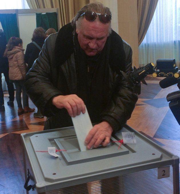 Gérard Depardieu a voté pour la présidentielle russe à