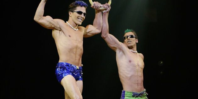 Yann Arnaud, à gauche, lors d'une répétition en