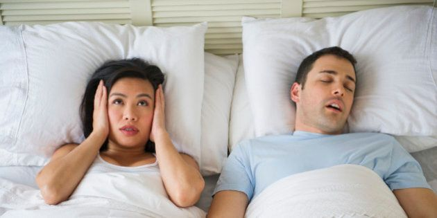 USA, New Jersey, Jersey City, Couple in bed, man