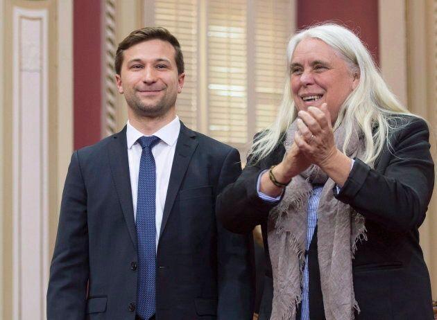 Les co-porte-parole de Québec solidaire, Gabriel Nadeau-Dubois et Manon