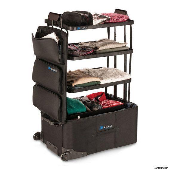 La valise ShelfPack vous évitera plusieurs maux de tête de