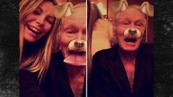 Hugh Hefner est un grand-père comme un autre qui découvre