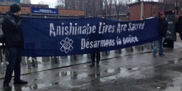 La manifestation à Montréal contre l'intervention policière au Lac-Simon se termine dans le