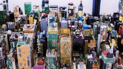 Cet artiste reconstitue la ville de Manhattan avec des résidus