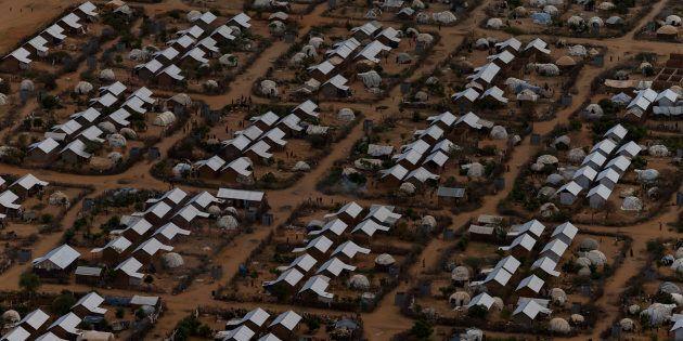 Un camp de réfugiés au
