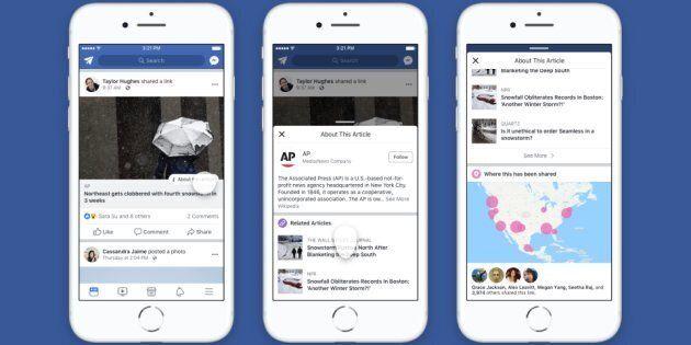 Facebook fait un pas de plus contre les fausses nouvelles aux