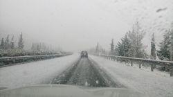 Météo: routes enneigées et pannes