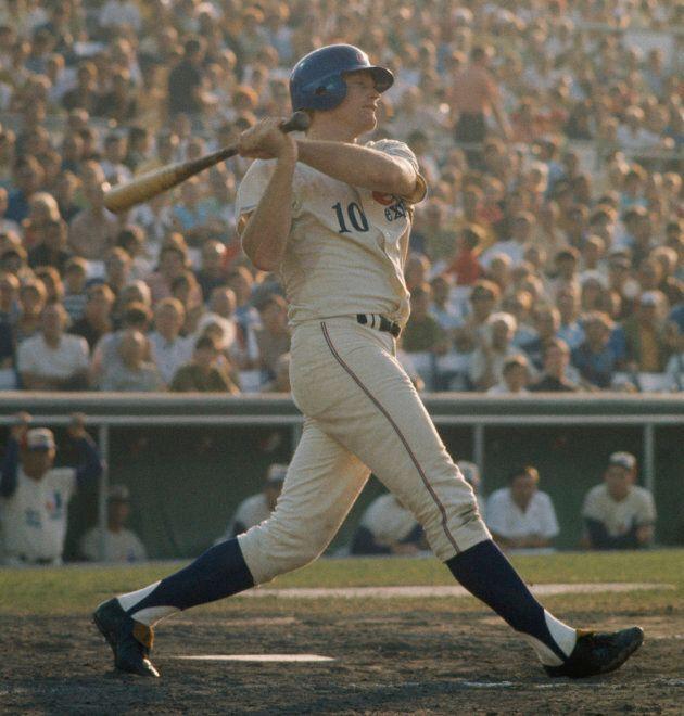 Rusty Staub alors qu'il portait les couleurs des Expos en 1969, dans un match disputé au Parc