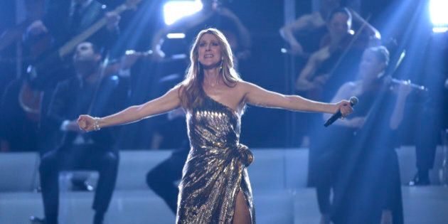 """Celine Dion performs """"The Show Must Go On"""" at the Billboard Music Awards at the T-Mobile Arena on..."""