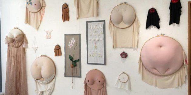 Sally Hewett, l'artiste qui brode des poils de fesses, des seins et des sexes, sans aucun