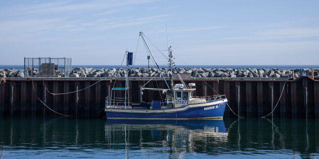 Un bateau de pêche dans le port de