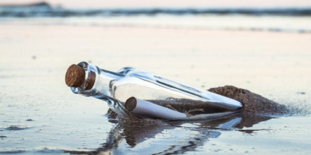 Message in a bottle on