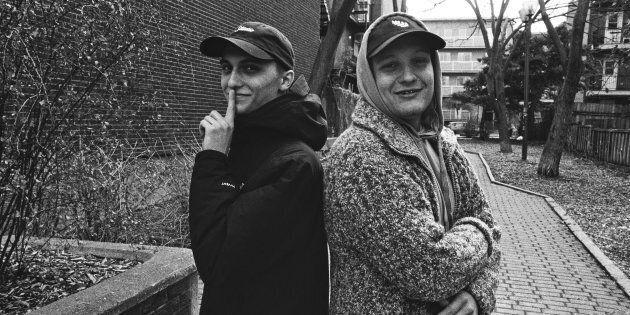 FouKi (droite) et son complice, le producteur Quiet Mike.