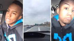 Il fait un Facebook Live en roulant à 160 km/h